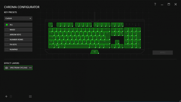 You do have to remind yourself at times that this is 'just' a keyboard, however, it is easy to spend ages tweaking the lighting scheme to your desired perfection in this section