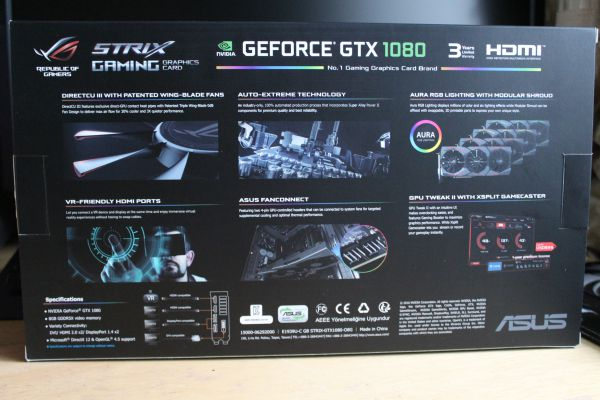 ASUS ROG Strix GeForce GTX 1080 box - rear