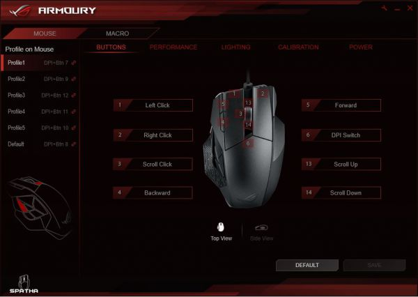 ASUS ROG Armoury - Buttons