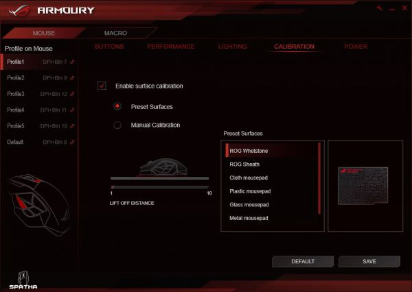 ASUS ROG Armoury - Calibration