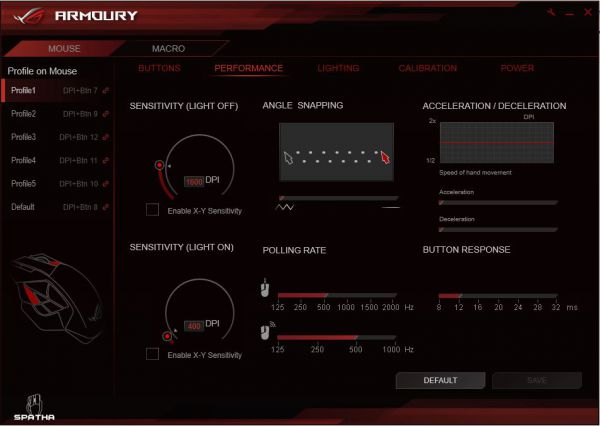 ASUS ROG Armoury - Performance