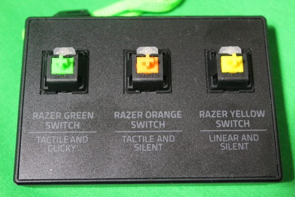 Razer mechanical keyboard switch options - choose your weapon!