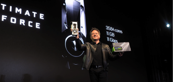 3584 CUDA cores, 11GB GDDRX @ 11Gbps and only £650? Yes - there's a lot to be excited about Mr Huang! AMD please take note - this is how it is done!