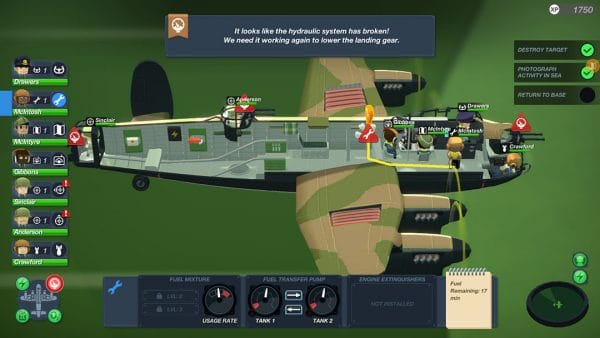 Bomber Crew - Ragequitters Brief Review - In Game Image