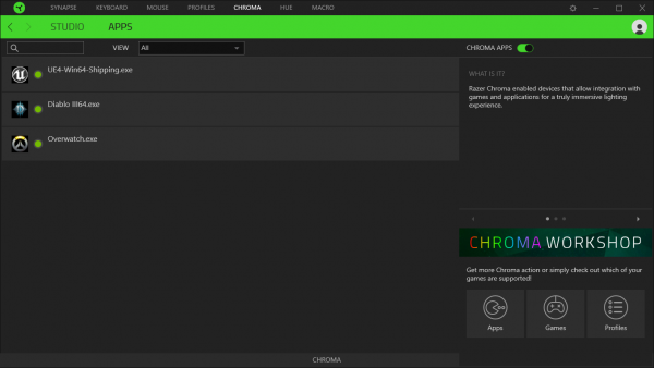 Razer Synapse 3 - Chroma - Apps