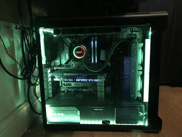 Neat and tidy PC build with added RGB